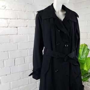 London Fog Double Breasted Lined Trench Coat 2X